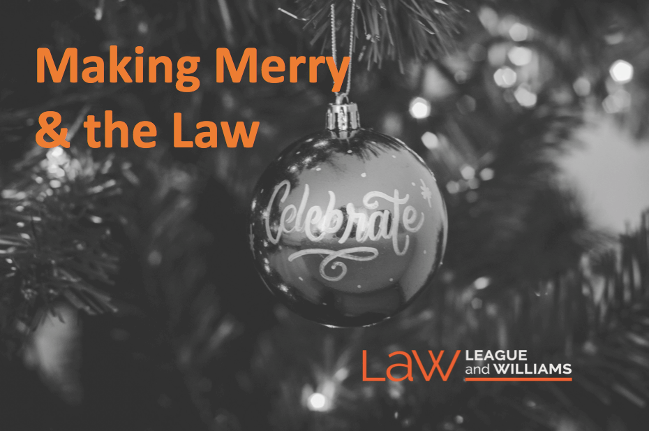 'Tis The Season – Holiday Parties And The Law